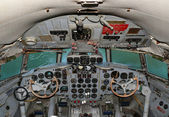 The cockpit aircraft IL 18 — Stock Photo