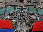 Cockpit Ilyushin IL 18 — Stock Photo
