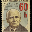 Czechoslovak postage stamp — Stock Photo