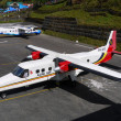 Stock Photo: Aircraft in Lukla airport