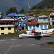 Aircraft in Lukla airport — Stock Photo