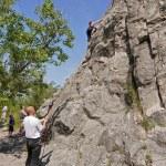 Climbers on limestone rock — Stock Photo #48496113