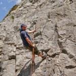 Climbers on limestone rock — Stock Photo #48496133