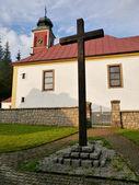 Catholic Church and the Cross — Stock Photo