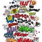 Comic book - words — Stock Vector