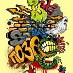 Graffiti elements — Stock Vector #16469171