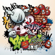 Graffiti elements - Stock Vector