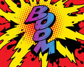 Comic book explosion — Stock Vector