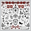 Heraldic elements — Stock Vector