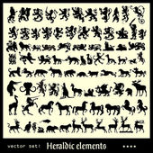 Heraldic beasts — Stock Vector