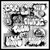 Graffiti street art background — Stock Vector