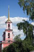 Dzwonnica kościoła st. sergei radonezhsky — Zdjęcie stockowe