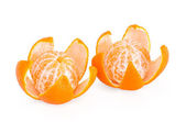 Two peeled mandarin orange — Stockfoto