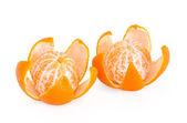 Two peeled mandarin orange — Stock Photo