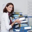 Businesswomstacks files — Stock Photo #16622381