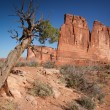 Organ and Tower of Babel at the Arches National Park - Stock Photo