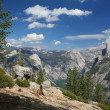 Glacier Point at the Yosemite National Park — Stock Photo