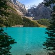 Moraine Lake at the Banff National Park - Stock Photo
