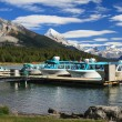Pier at the Maligne Lake - Stock Photo