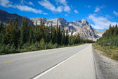 Street at the Banff National Park — Stock Photo