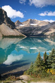 Bow Lake at the Banff National Park — Stock Photo