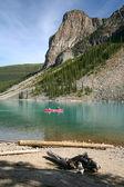 Canoe on the Moraine Lake — Stock Photo