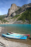 Canoes on the Moraine Lake — Stock Photo