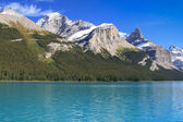 On the Maligne Lake — Stock Photo