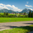 Street in front of alps — Stock Photo #16982133