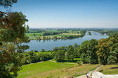 Outlook from the Walhalla at the river Donau — Stock Photo