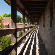 On the city wall of Rothenburg ob der Tauber — Stock Photo