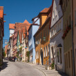 Alley Schmiedgasse in Rothenburg ob der Tauber — Stock Photo #17128359
