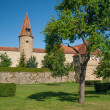City wall of Rothenburg ob der Tauber — Stock Photo