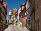 Alley Schmiedgasse in Rothenburg ob der Tauber — Stock Photo