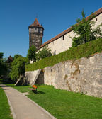 City wall of Rothenburg ob der Tauber — Foto de Stock