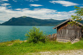 Cottage at Lake Walchensee — Stock Photo