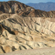 Rock formations at the Zabriskie Point — Stock Photo