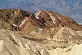 Rock formations at the Zabriskie Point — 图库照片