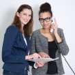 Two women are working in the office — Stock Photo