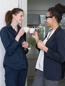 Two women are making a coffee break — Stock Photo