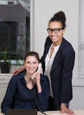 Two women in the office — Stock Photo