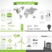 Eco infographic elements. Vector set — Stock Vector