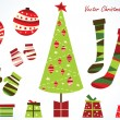 Vector de stock : Christmas pack