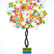 Flower tree — Stock Vector