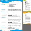 Resume template. — Stock Vector