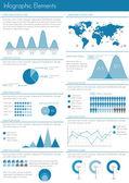 Infographic set illustration. — Stockvektor
