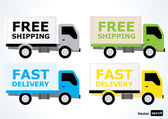 Shipping trucks — Stock Vector
