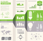 Ecology info graphics collection, charts, symbols, graphic vecto — Stock Vector