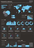Vector Set elements of infographics — Vettoriale Stock