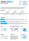 Infographic Resume. — Stock Vector